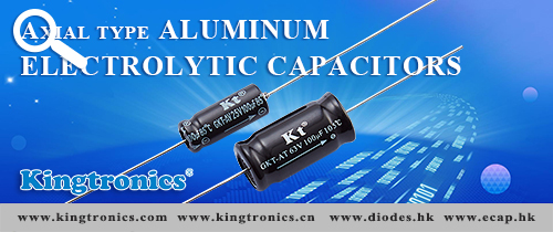 Kingtronics Widely use Axial type Aluminum Electrolytic Capacitors