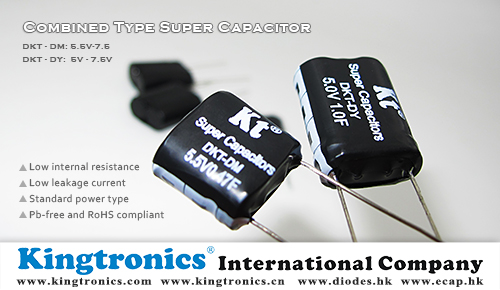 Kingtronics 5V-7.5V Combined Type Ultra Capacitor, also called Double Layer Capacitors – DKT-DY